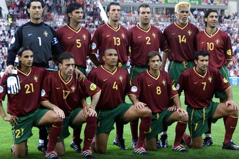 """""""Geração de Ouro"""" do futebol português começa a desabrochar na Euro-2000"""