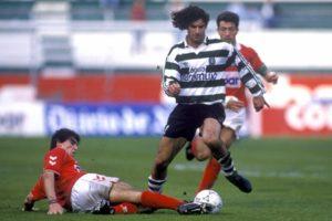 Figo no Sporting em 1990.