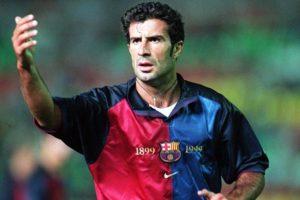 Figo era ídolo em Barcelona.