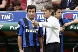 Figo não se deu bem com Mancini.