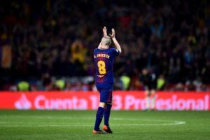 Andrés Iniesta em despedida no Camp Nou.