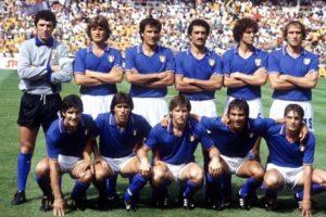 Seleção italiana em 1982.