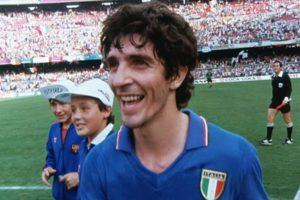 Paolo Rossi foi campeão do mundo na Itália em 1982.
