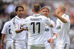 Arjen Robben no Real Madrid.