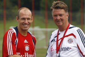 Robben e Van Gaal no Bayern de Munique.
