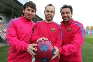 Trio mágico do Barcelona.