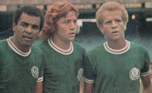 Ademir ao lado de Leivinha e Luis Pereira