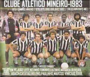 Atlético MG, hexacampeãoem 1983.