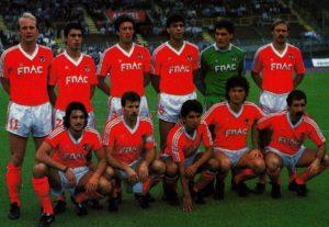 Benfica teve boa campanha na década de 80.