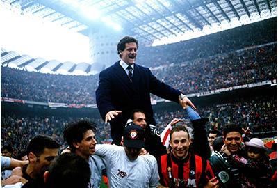 Capello foi um dos técnicos mais vitoriosos do Milan.