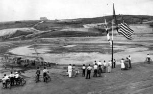 Construção do Morumbi nos anos 50.