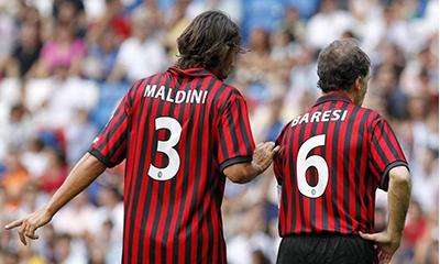 Dois zaguerios lendários da história do Milan