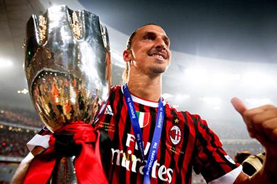 Ibrahimovic é um dos recentes ídolos do Milan.