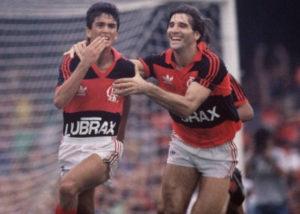 Parceria entre Bebeto e Renato em 1987.