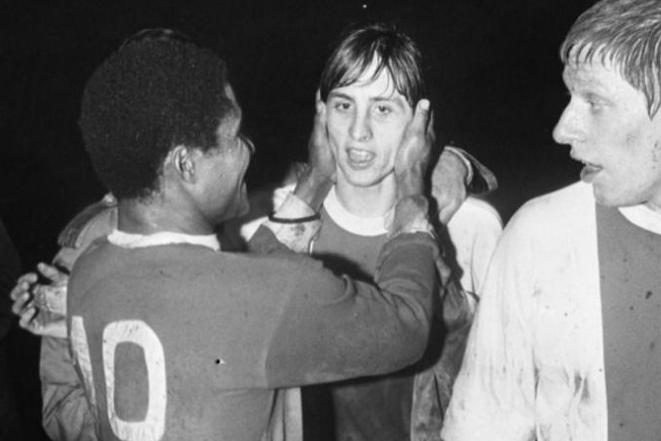 Eusébio e Cruyff: duas lendas do futebol!