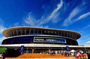 A nova Arena do Grêmio, casa em que o clube foi muito feliz.