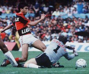 Bebeto anotou gol do Flamengo.