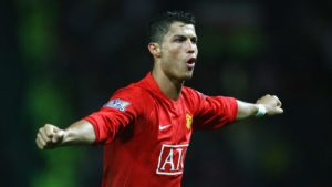 Cristiano Ronaldo destaque do Manchester United.