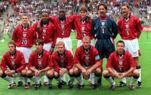 Elenco da Seleção Inglesa de Futebol na Copa do Mundo de 1998.