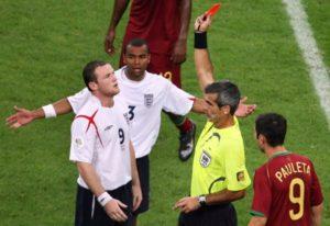 Queda da Seleção Inglesa de Futebol para Portugal na Copa de 2006.
