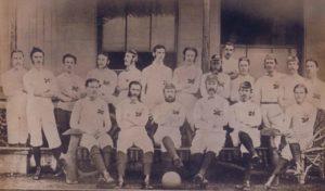 Seleção Inglesa de Futebol em seus primórdios.
