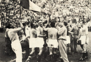 Itália após a conquista da Copa do Mundo de 1934.
