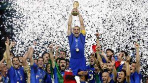 Itália em seu úlimo título de Copa do Mundo.