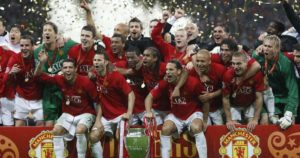 Terceira Champions League do Manchester United.