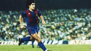 Maradona em sua passagem pelo Barcelona.