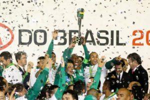 Mesmo com a queda em 2012, o Palmeiras venceu a Copa do Brasil 2012.