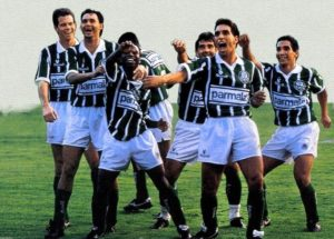 Parceria entre Palmeiras e Parmalat rendeu muitos títulos.