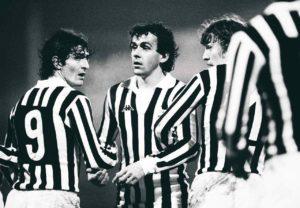 Platini e Paolo Rossi formaram uma ótima dupla na Juventus.