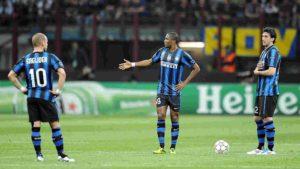 Trio que comandou a Inter nas conquistas de 2009/10.