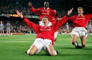 Solskjaer deu título para o United em 1999.