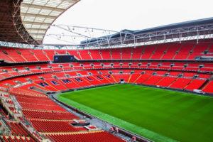 Mítico Estádio do Wembley, na Inglaterra.