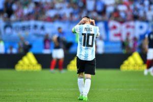 Seleção Argentina de FUtebol decepciona em 2018.