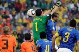 Brasil e Holanda na Copa de 2010.