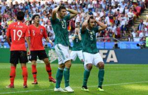 Eliminação da Alemanha ainda na fase de grupos em 2018.