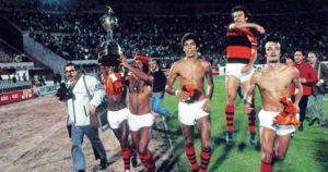 CR Flamengo conquista seu primeiro título de Libertadores.