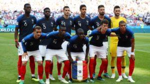Elenco da Seleção Francesa de Futebol vicampeã do mundo em 2018.