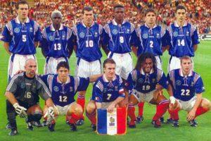 Elenco da França na Copa de 1998.
