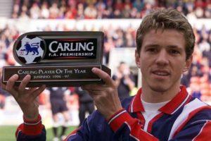 Juninho, melhor da Premier League 1997.