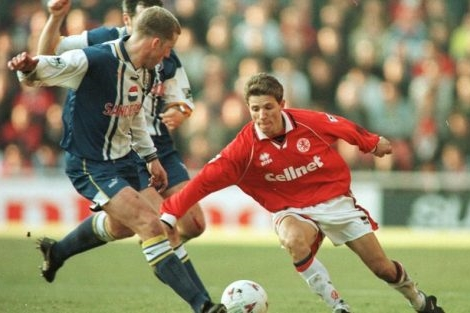 Juninho em ação pelo Middlesbrough.