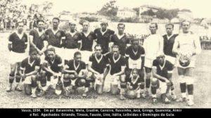 Leônidas da Silva com o elenco do Vasco.