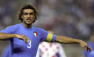 Paolo Maldini na seleção italiana.