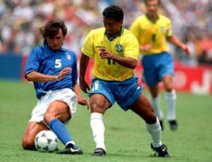 Na final da Copa do Mundo de 1994, maior chance de título com a seleção italiana.
