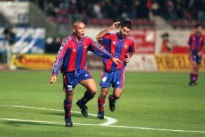 Ronaldinho no Barcelona.