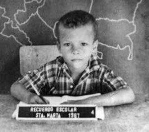 El Píbe quando ainda era garoto.