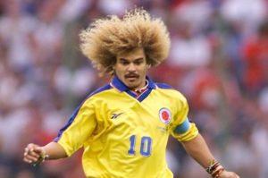 Carlos Valderrama é o maior ídolo do futebol colombiano.