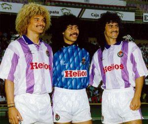 Na Europa, Carlos Valderrama passou pelo Montpellier e Valladolid, onde reencontrou velhos amigos.